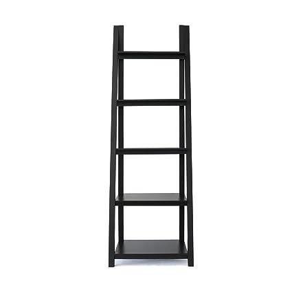Amazon Com Orno Ttobe 5 Tier Wood Ladder Shelf Free Standing