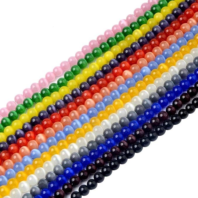 11-12MM Gray Chrysoberyl Cat Eye Beads Grade AA Genuine Natural Round Gemstone Loose Beads 17 Pcs 105944