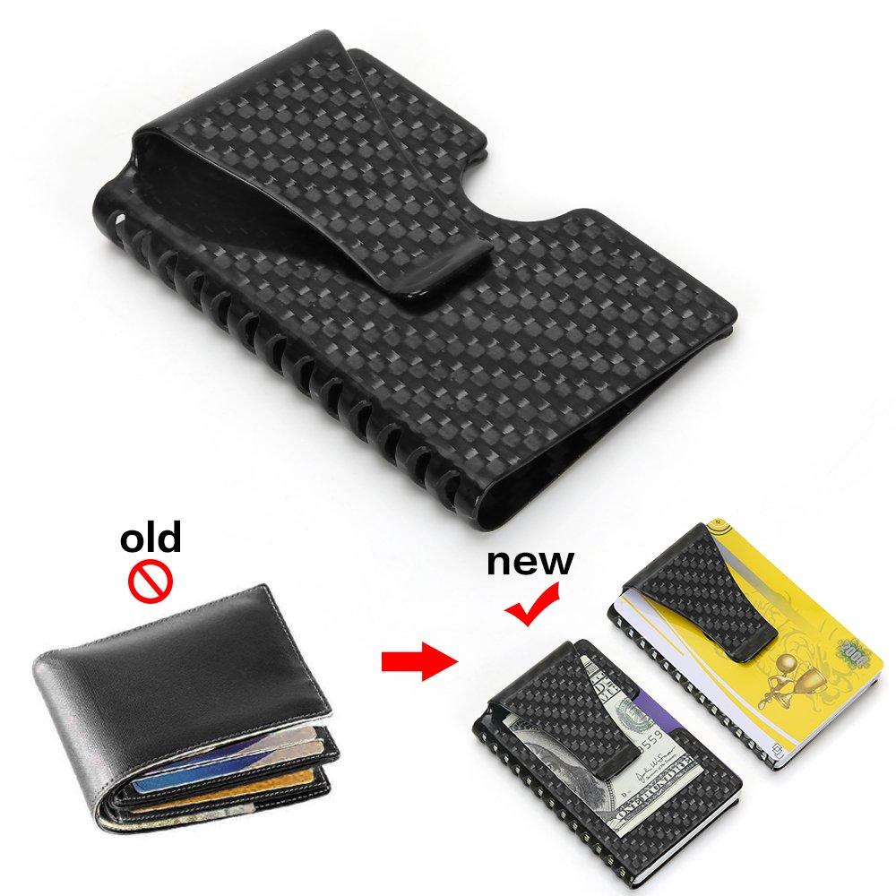 6cbc81ceb233a 2 Jahre Garantie Kreditkartenetui Herren Portemonnaie RFID   NFC Schutz  Edles Design Carbon Slim Wallet für ...