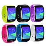 Tkasing Samsung Galaxy Gear S R750 Smart Watch Replacement Wristband Bracelet/Free Size Wireless Smartwatch Accessory Band Strap with Secure Buckle (A)