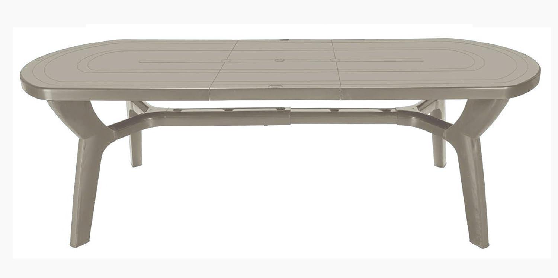Mesa de jardín extensible de plástico/resina, 180/230 cm, Juta ...