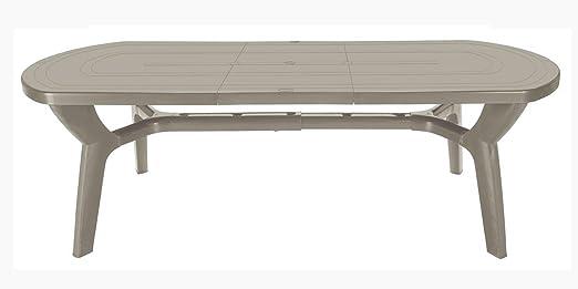 Tavoli Allungabili Plastica Prezzi.Gbshop Tavolo Da Giardino Allungabile In Plastica Resina 180 230