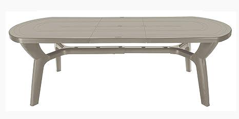 Tavolo Da Giardino In Resina Allungabile.Tavolo Da Giardino Allungabile In Plastica Resina 180 230 Cm Amazon