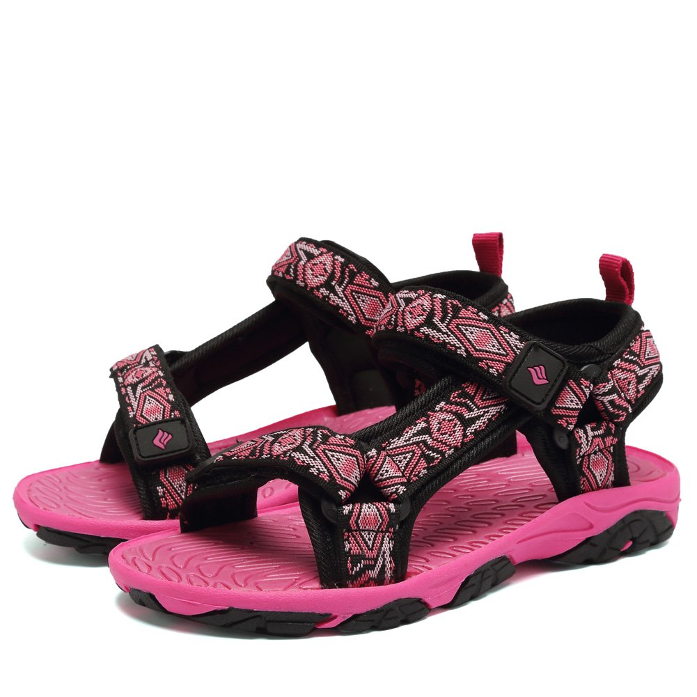 CIOR Fantiny Kids Athletic Sandals Boy and Girls' Two-Straps Open Toe Beach Sports Sandals (Little Kid/Big Kid) SAC101 Rose 27 by CIOR (Image #3)