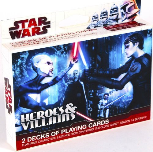 Star Wars - The Clone Wars - Heroes and Villains 2 Decks Playing Cards