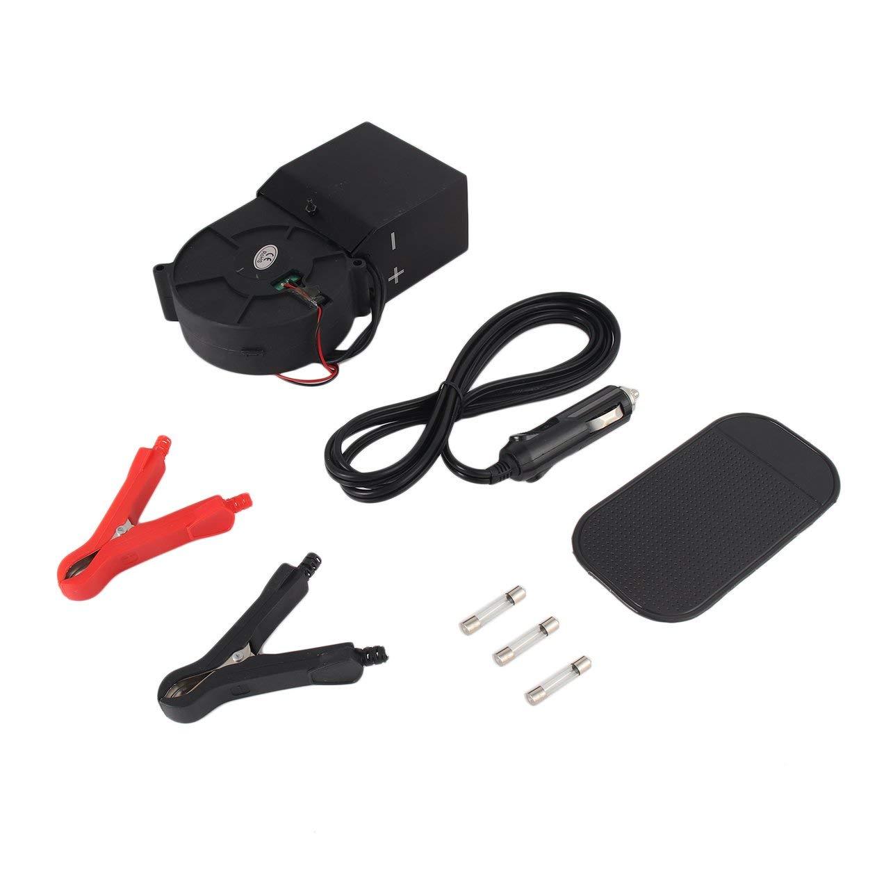 Ventola sbrinatore regolabile per riscaldamento auto 12V PTC 300W 500W (colore: nero) WOSOSYEYO