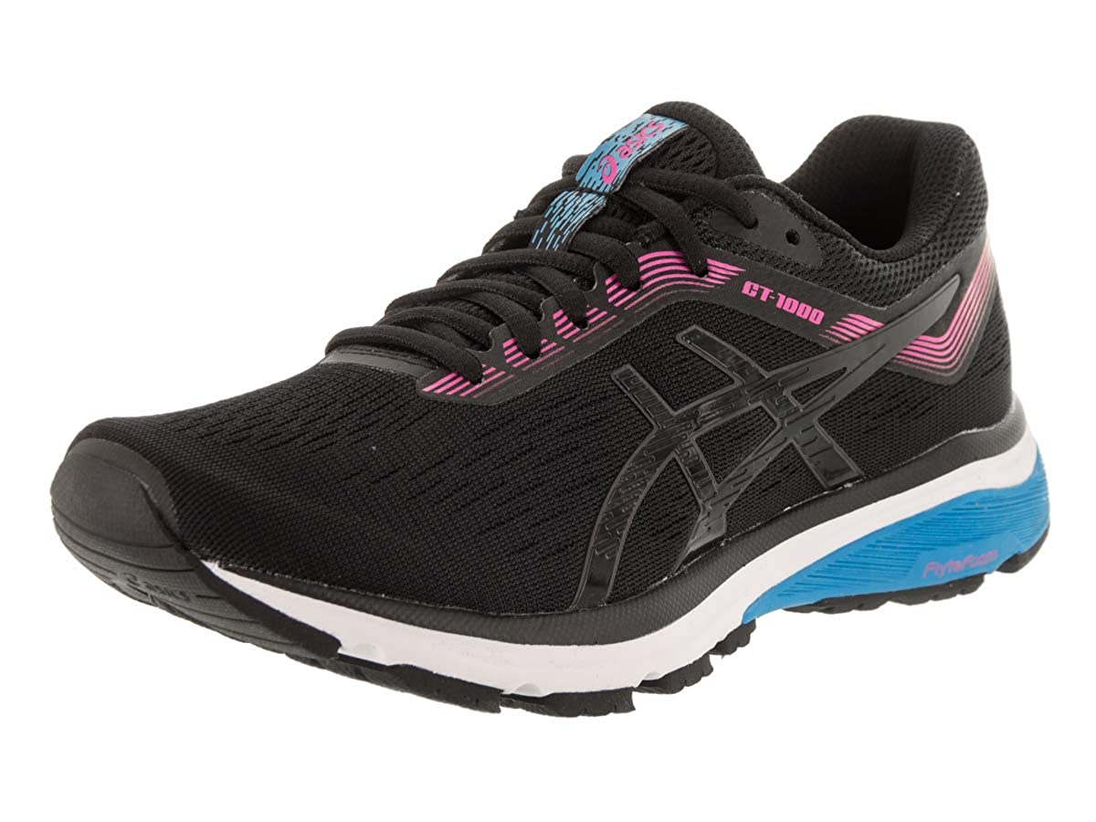 Black ASICS Women's Gt-1000 7 Running shoes 1012A030