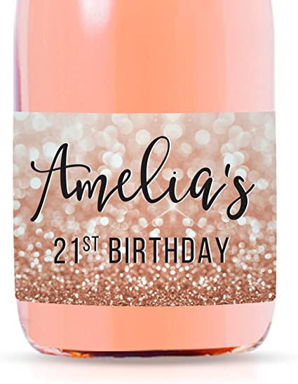 Customized Vinyl Decal for Wine or Champagne Bottle Gift