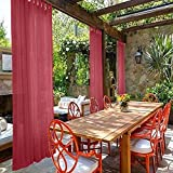cololeaf Tab Top Sheer Curtains Indoor Outdoor For Living Room | Bedroom | Kidsroom | Classroom| Hotel - Burgundy 100'' W x 102'' L (1 Panel)