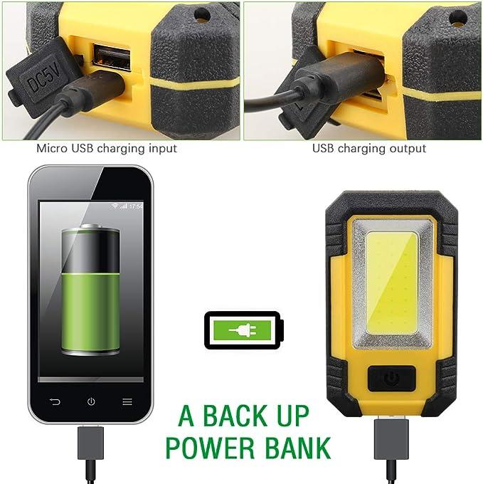 Mikro-USB-Kabel Testboy Light 200 COB-LED Arbeitsleuchte aufladbarer Akku inkl