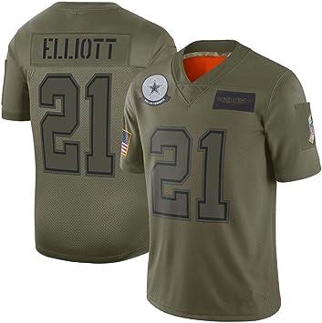 ZJFSL Camiseta de fútbol de la NFL Chiefs/Cowboys/Patriots/Army ...