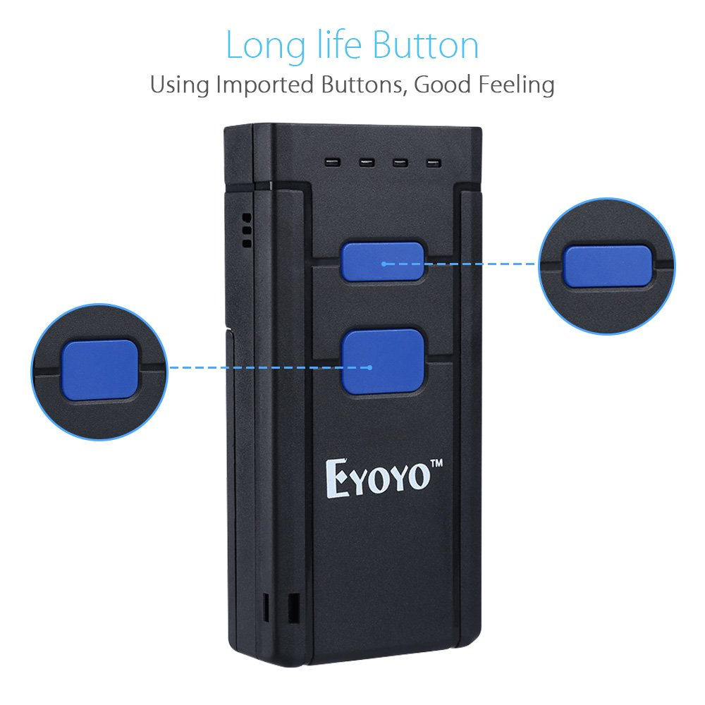 Eyoyo Mini 1D Wireless Barcode Scanner,Compatible with Bluetooth Function & 2.4GHz Wireless & Wired Connection, Portable Barcode Reader Work With Windows, Mac,Android, iOS Phones, Tablets or Computers by Eyoyo (Image #8)