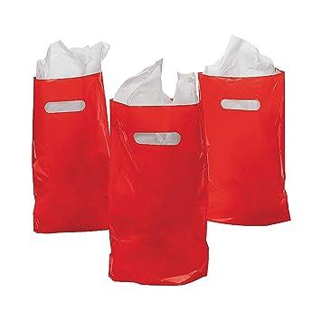 Amazon.com: Bolsas de plástico de color rojo, (50 pieza) por ...