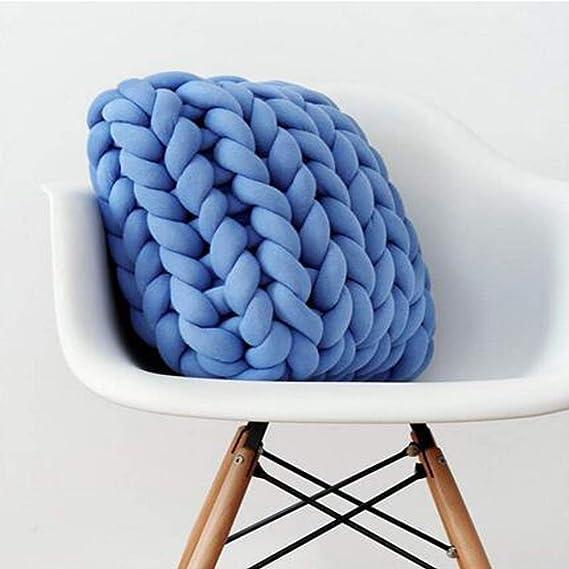 Amazon.com: Almohada trenzada de algodón hecho a mano para ...