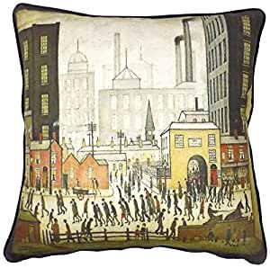 """The Lowry Collection """"Coming From The Mill"""" Black Cream Red 18"""" 45cm Cushion Cover Pillow Case Made In The UK"""