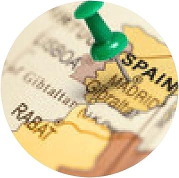 alfombrilla de ratón Ubicación España. Contacto verde en el mapa ...