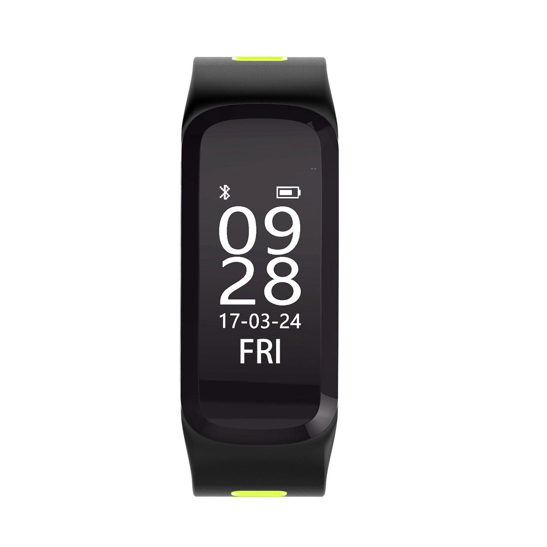 IP68 impermeable Fitness Tracker pulsera de actividad con pulsómetro, podómetro, calorías, presión sanguínea, Sangre oxígeno, Bluetooth 4.0 ...