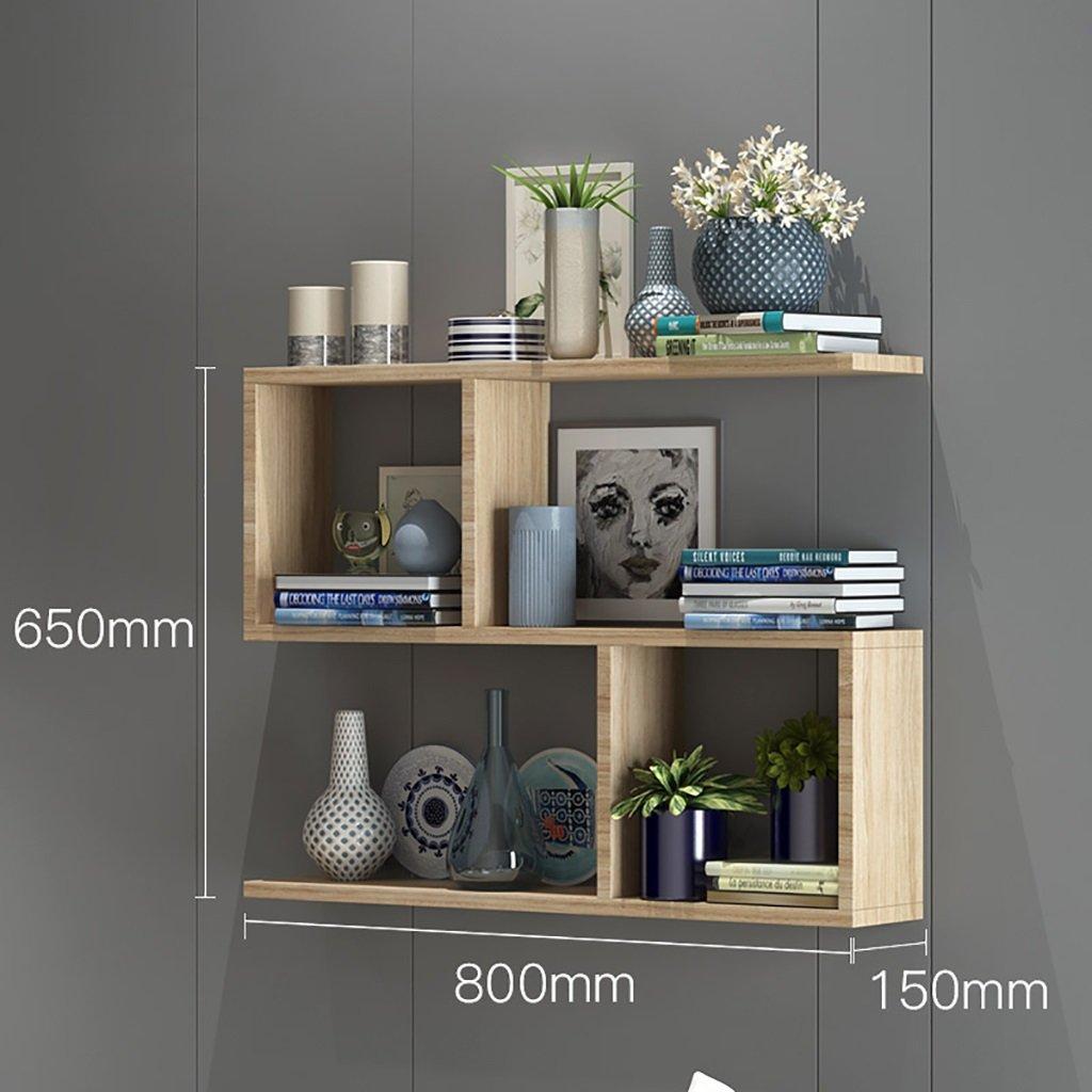 JH Wand-Lagerregal Regale auf der Bücherregalwand, Wandschränke, Trennwände aus massivem Holz, Punch-Free, Schlafzimmer Wandregale einfach und modern (größe   100  15  65cm)  801565cm