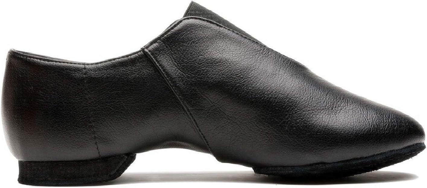 Mrsdressshop Unisex Leather Upper Jazz Ballet Dancing Shoes Slip-on for Girls and Boys-Toddler//Little Kid//Big Kid