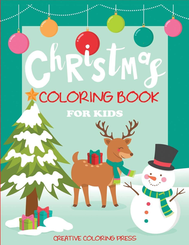 Christmas Coloring Book Kids Reindeer product image