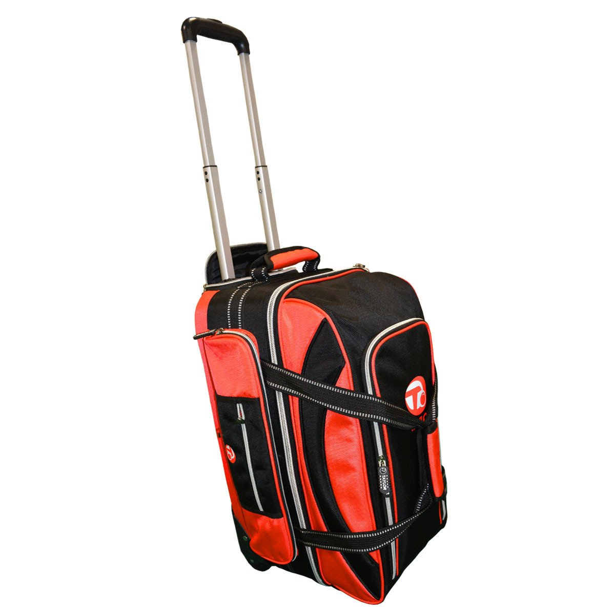 Taylor Ultimate Trolley Bag for Crown OR Flat Green Bowls 371 (Black/RED)