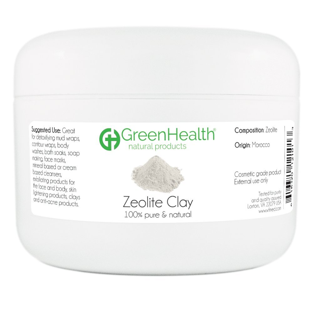Zeolite Clay Powder 6 oz - 100% Pure & Natural by GreenHealth
