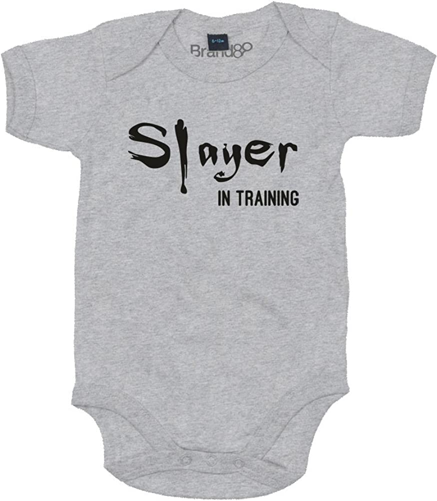 Baby Grow Slayer in Training Heather Grey//Black 6-12 Months