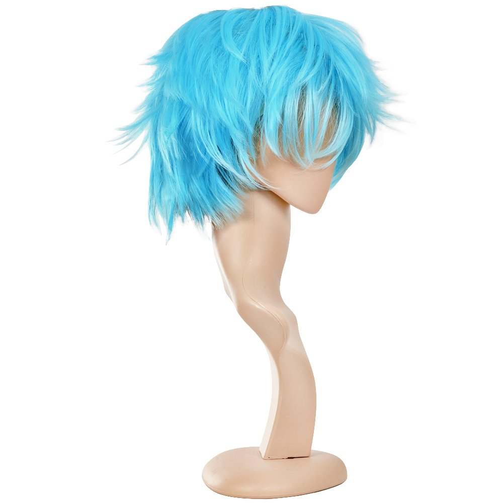 Blue Ecvtop Wigs for Mens Death Note Male Short Hair Wig Costume Cosplay Wigs