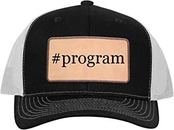 One Legging it Around Tiddy Beer Weird Program - Leather Light Brown Patch Engraved Trucker Hat