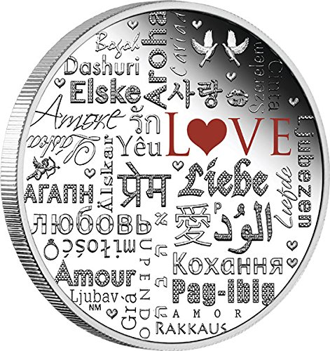 2016 TV Modern Commemorative LANGUAGE OF LOVE 2 Oz Silver Coin 2$ Tuvalu 2016 2 Oz Proof from Power Coin