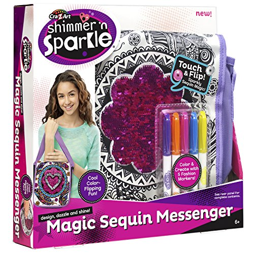 Cra-Z-Art SNS Color Your Own Magic  Sequins Messenger Bag Crafts Kits