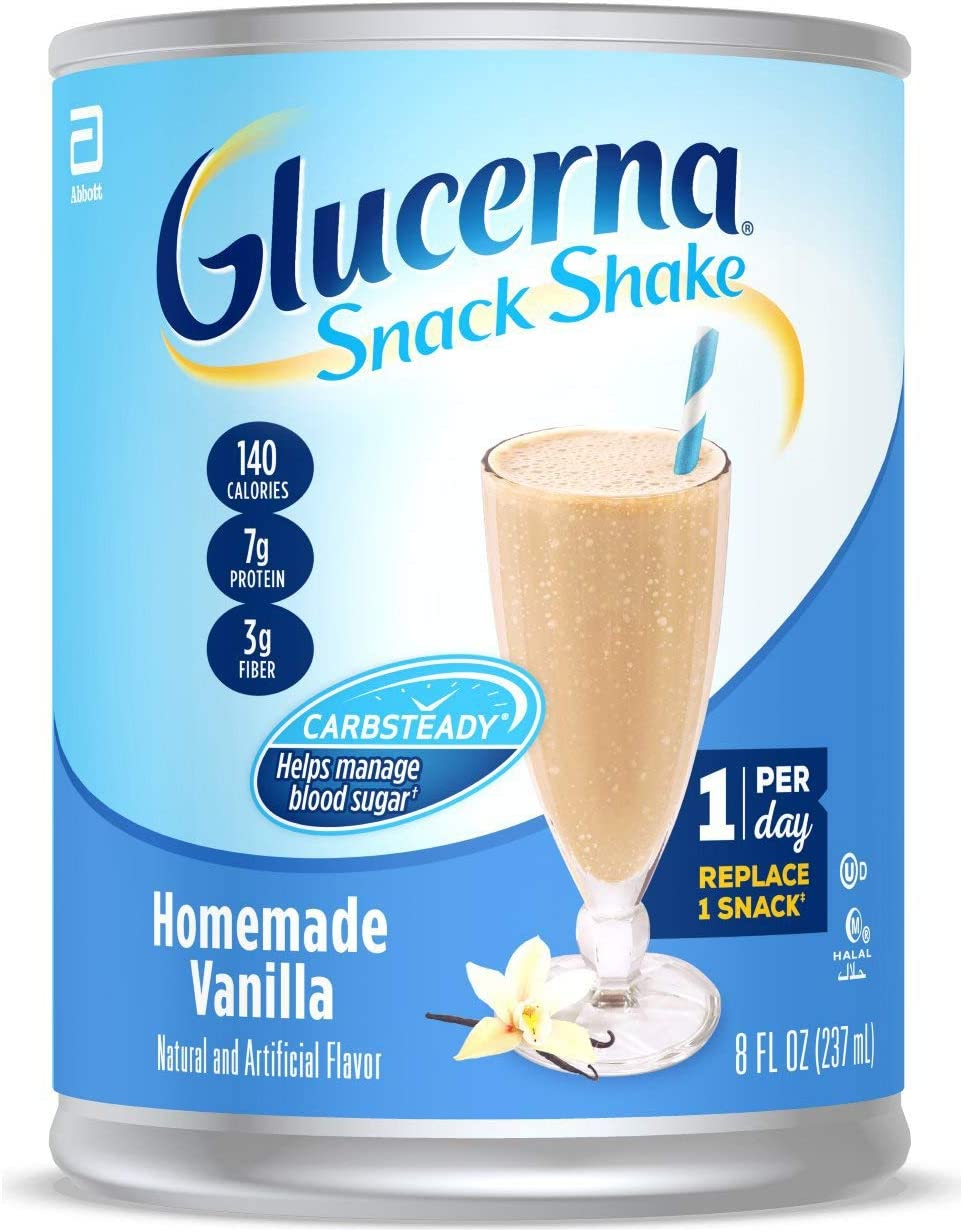 Glucerna Snack Shake, Homemade Vanilla Pack of 16