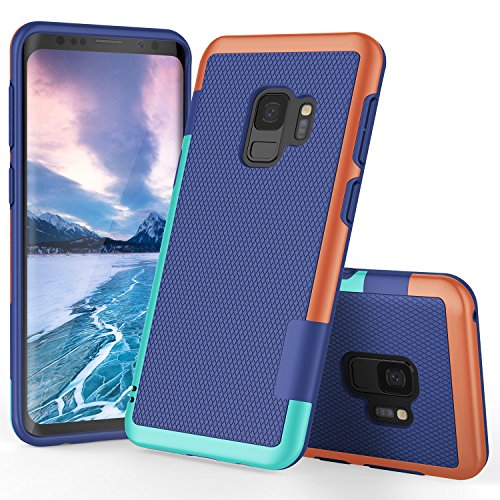 - Galaxy S9 Case, S9 Case, TILL(TM) Ultra Slim 3 Color Hybrid Impact Anti-slip Shockproof Soft TPU Hard PC Bumper Extra Front Raised Lip Case Cover for Samsung Galaxy S9 SM-G960U 5.8 Inch [Blue]
