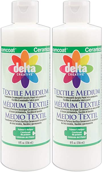 Delta Creative Ceramcoat Acrylic Paint 8 Ounce 0802 Textile Medium Two Pack Textile Medium Amazon In Home Kitchen