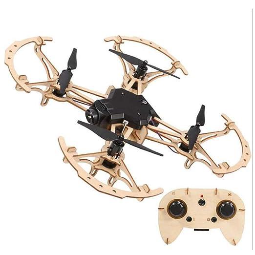 BABY-WZL Drone Wooden DIY Puzzle Ensamblado a Mano, Avión de ...
