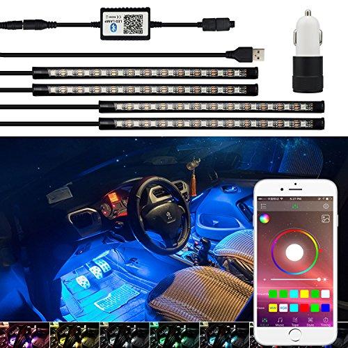 Любезность шаг AUXITO RGB Car Interior