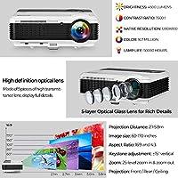 4500 Lumen LCD Proyector de video HD WXGA 1080P Dual HDMI USB ...