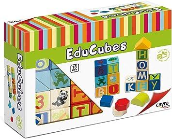 Cayro - Educubes - Juego para bebés - Desarrollo de Habilidades cognitivas - Juego de Mesa - Juguete de construcción (870): Amazon.es: Juguetes y juegos