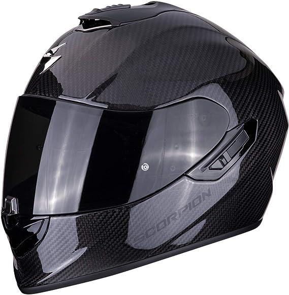 Scorpion 14 261 100 05 Motorradhelm Exo 1400 Air Carbon Solid Auto Motorrad Motorräder Ersatzteile Zubehör Schutzkleidung Helme Integralhelme L Noir Auto