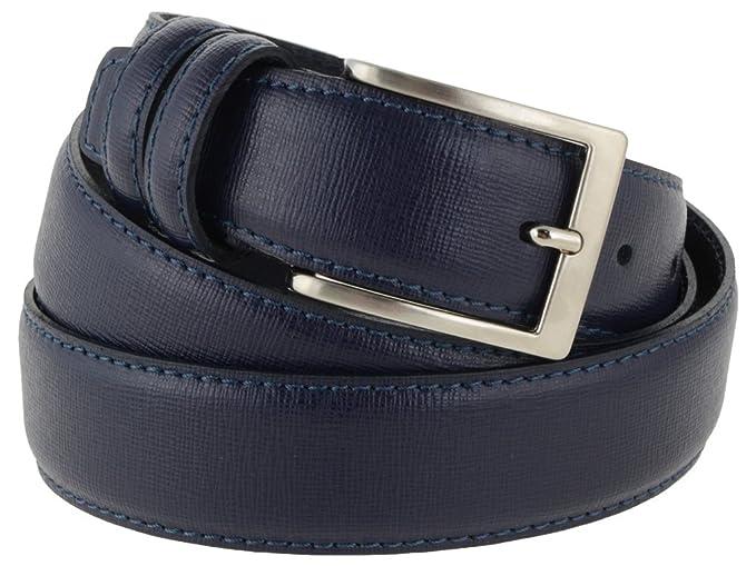 stili classici sempre popolare nuova alta qualità Cintura uomo in pelle blu classica, elegante, artigianale, modello ...