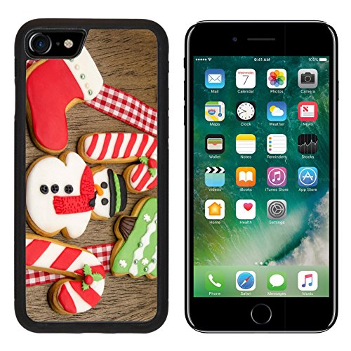 MSD Premium Apple iPhone 7 Aluminum Backplate Bumper Snap Case iPhone7 IMAGE ID: 31447705 Christmas cookies decorated with fondant