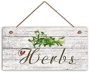 MAIYUAN Herbs Garden Sign Rustic Home Decor Plaque 10x5 House Gifts for Gardener(UG1278)