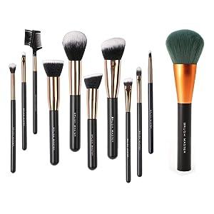 Brush Master Makeup Brush Set & Professional Kabuki Brush for Face Powder Eyeshadow
