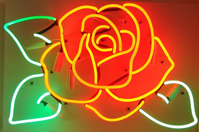 Desung Brand New 17 X13 Flower Rose Neon Sign Various Sizes Beer