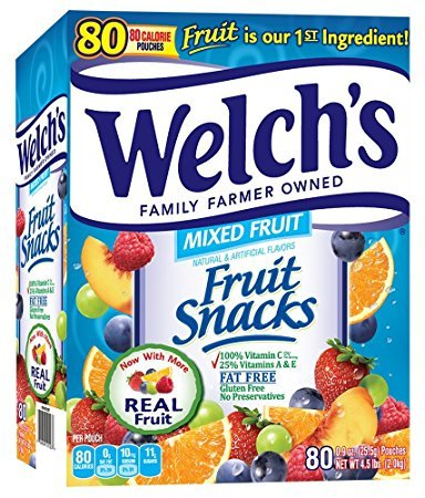 Welch's Fruit Snacks, Mixed, 80 counts, 4.5 Pounds - Pack of 3