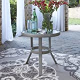 Home Styles 5700-20 South Beach Accent Table, Gray