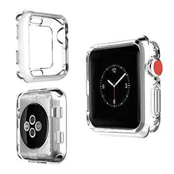 Funda para Apple Watch 42mm Carcasa para iWatch Serie 3 / 2 / 1 Funda Suave para iWatch, Carcasa Protección de Pantalla de Apple Watch, TPU Cubierta ...