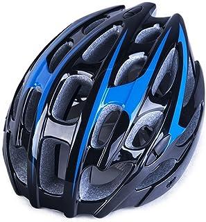 Flowerrs Scooter Helmet Casco bici regolabile per casco da bici da donna ventilato da uomo (nero + blu) Casco da skate