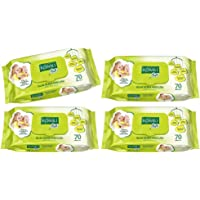 Komili Soft Wet Wipes, Pack of 4 - For Baby Care and Personal Use - 70 Sheets x 4 Packs, Total 280 Sheets