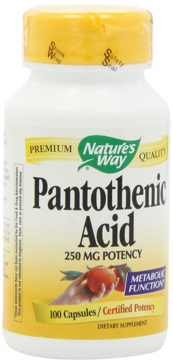 Nature'S Way Pantothenic Acid 250Mg 100 Cap